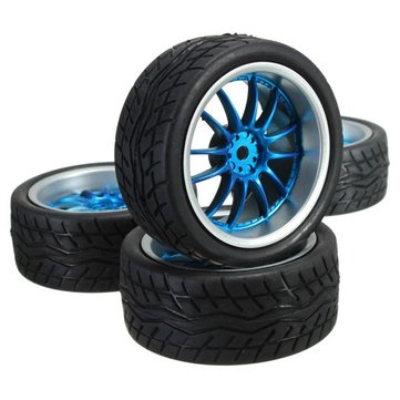 4 Pcs Flat Wheel Tire Smart Car Accessories Racing Tire