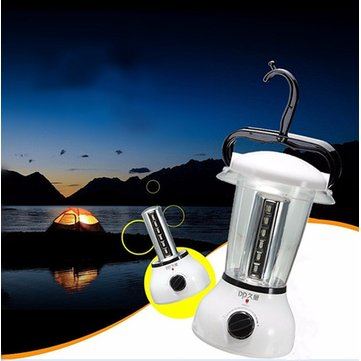 24 LED Rechargeable Camping Travel Lantern Torch Dimmable Light Lamp