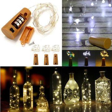 Battery Powered 10 LEDs Cork Shaped LED Night Starry Light Wine Bottle Holiday Lamp for Christmas Party