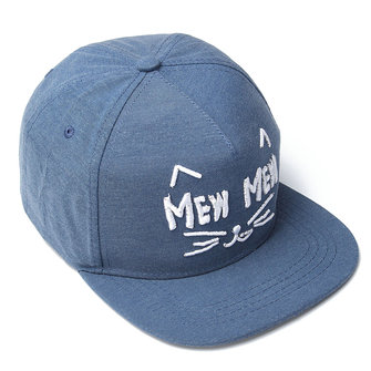 Women Cute Cat Face Embroidery Letter Men Hip-hop Cap Kpop Dancing Baseball Snapback Hat