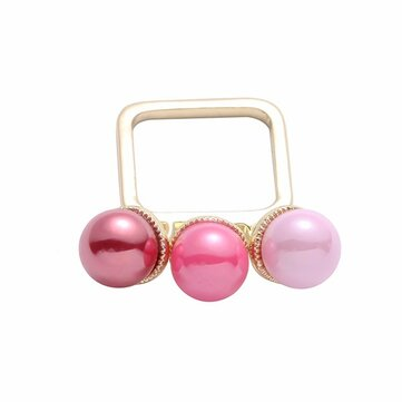 Trendy Balancing Style Sweet Ring Colorful Candy Pearl Square Ring Gift for Women