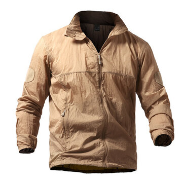 Mens Tactical Skin Sommar Outdoor Skin Jacket Lätt Tunn Windbreaker