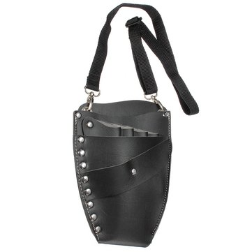 PU Leather Barber Hair Scissor Bag Hairdressing Holster Holder Case with Waist Shoulder Belt
