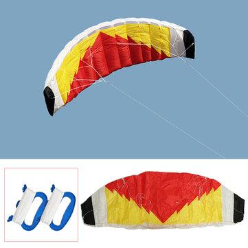 2-Line Parafoil Stunt Kite 0.7 x 2m Parachute Sail/Surfing Beach Nylon Fabric