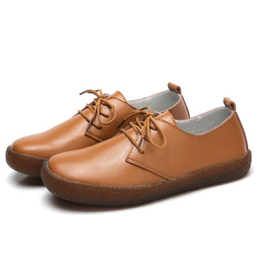Soft Casual Flat Loafers In Leather