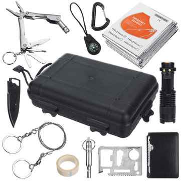 11 in1 SOS Emergency Camping Survival Equipment Tools Kit Outdoor Tactical Hiking Gear