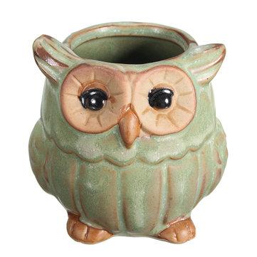 Garden Ceramic Owl Succulent Plants Flower Pot Mini Plant Planters Home Garden  Decor