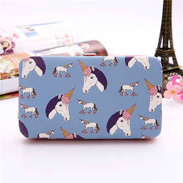 Women Cartoon Print 5.5 Inch Phone Wallet Case Purse For Iphone,Xiaomi,Redmi,Samsung