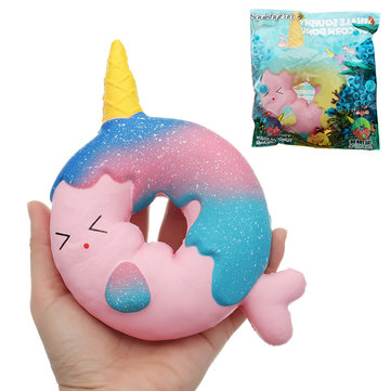 SquishyFun Unicorn Donut Squishy 11*3.5*19CM Slow Rising With Packaging Collection Gift Soft Toy