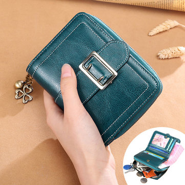 Genuine Leather Women Short Wallets Ladies Fashion Small Wallet Coin Purse