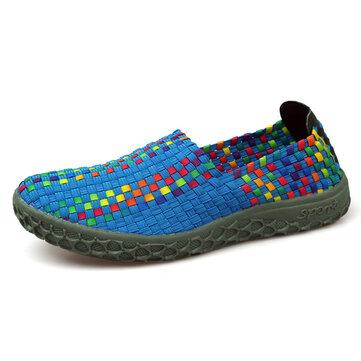 Красочные ручной вязки случайные круглый носок обуви спортивная здоровья