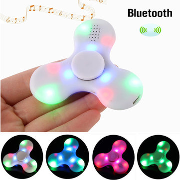 ECUBEE Bluetooth Hand Spinner Chargeable Music LED Fid Spinner