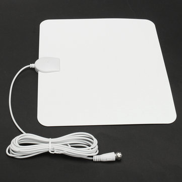 1080P USB Digital Indoor TV Antenna 50 Miles Range Signal Amplified HDTV White