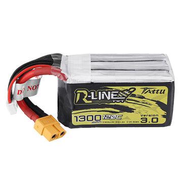 Original TATTU R-LINE Versión 3.0 22.2V 1300mAh 120C 6S1P Lipo Batería para RC Racing Drone
