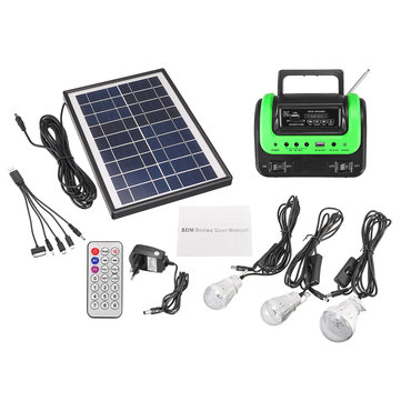 Portable Small DC Solar Panels Charging Generator with Radio MP3 Flashlight Mobile Power Supply