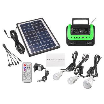 Portable Small DC Solar Panels Charging Generator with Radio MP3 Flashlight Mobile Power Supply