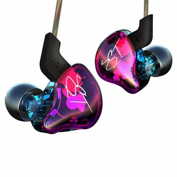 KZ ZST Pro Colorful HIFI Armature Treble Driver Dynamic Bass Unit Removable Cable Headphone