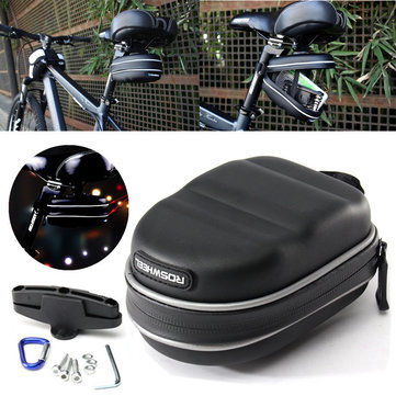 ROSWHEEL Waterproof Cycling Bicycle Bike Saddle Bag Tail Rear Bag Pouch Black