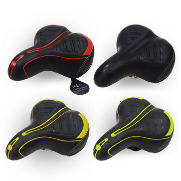 Mountain Bike Saddle Cycling Extra Big Wide Comfortable Cushion Cycling Bike Spring Seat