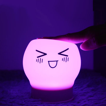 5 Modes 7 Colors Changeable USB Rechargeable Funny Silicone LED lights Tap Control Home Decor Night Light