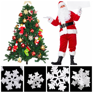 Christmas Tree White Snowflake Foam Hanging Decoration Xmas Ornament Party Decor