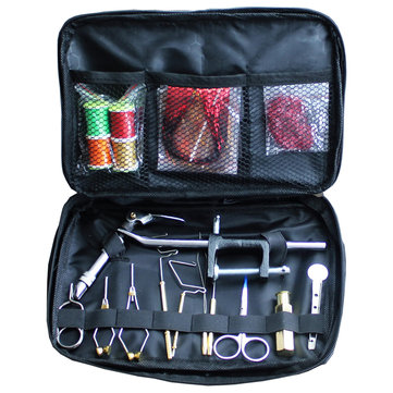 ZANLURE Fly Tying Kit Fly Tying Vise Fly Tying Tool Tying Wire Pliers Fishing Set