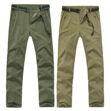 Summer Outdoor Mens Quick Drying Pants Casual Elastic Breathable Climbing Trousers