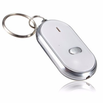 5pcs Whistle Key Finder Keychain Sound LED With Whistle Claps