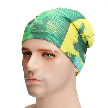 Unisexe multifonctionnel sans couture Bandana écharpe Headbrand élastiques Outdooors Turban crème solaire voile magique