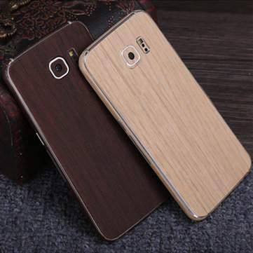 SIMW Colorful Retro Matte Anti-Scratch Wood Grain Phone Skin Sticker Protector for...
