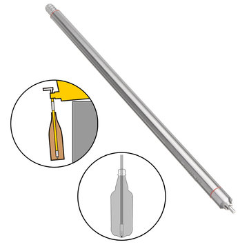 13.7 Inch Stainless Steel Wine Bottling Spring Loaded Beer Bottle Filler Filling Stick Homebrew