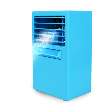 DC 24V Mini Desktop Air Conditioning Fan Air Evaporation Cooling Cycle Spray Humidifier