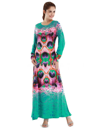 Women Elegant Printed Evening Party Bohemian Maxi Dress