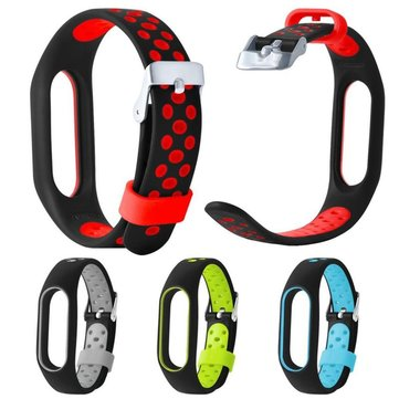 Replacement TPE Breathable Hole Wrist Watch Strap For XIAOMI MIband 2