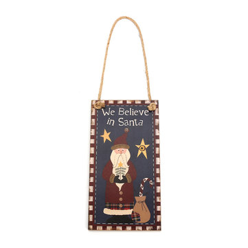 Christmas Party Home Decoration Wooden The Elderly Listed MDF Board Home Room Decor Gift