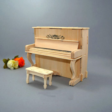 DIY Handmade 18 Note Wooden Music Box DIY Grand Piano Creative Gift