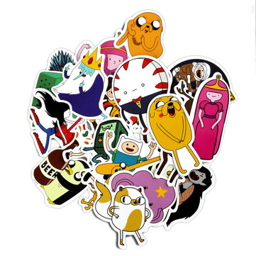 29pcs Adventure Time Cartoon Pvc Waterproof Sticker For Luggage Wall Car Laptop Bicycle Motorcycle Notebook Laptop Toys Stickers