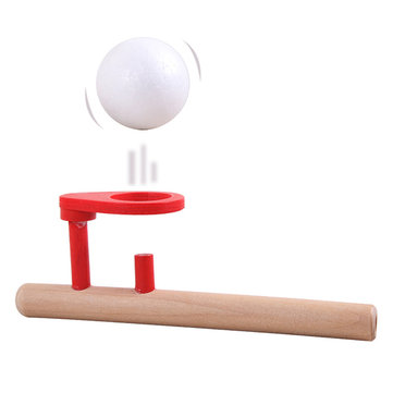 Kids Wooden Blow Toy Children Floating Foam Ball Game Toys