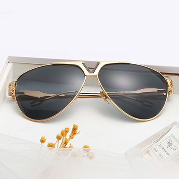 Men Women Trendy HD UV400 Metal Non-polarized Sunglasses
