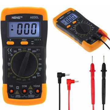ANENG A830L Digital Multimeter DC AC Voltage Diode Freguency Transistor Tester