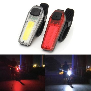 BIKIGHT USB Rechargeable LED Bicycle Front Rear Tail Light 5 Modes Lamp