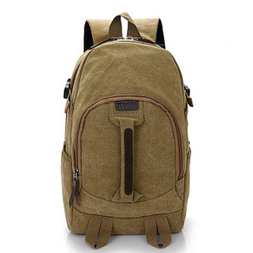 Travel Backpack Large Capacity Canvas Square Solid Bag Four Color For Man