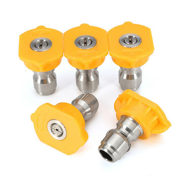 5pcs 15 Degree Yellow Spray Tips Set High Pressure Washer Nozzle Spray Tips