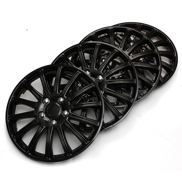 Plastic Universal Set of 14inch Black Car Sports Wheel Trims Cover Hub Caps