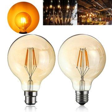 4W G95 E27 / B22ヴィンテージレトロ工業用LED COBエジソンフィラメント白熱電球