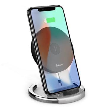 HOCO CW5 sembolü 10 W Hızlı Şarj Qi Kablosuz Ayrılabilir Masaüstü Telefon Tutucu Standı için iPhone 8 X