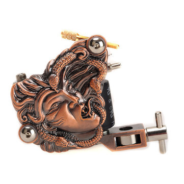 OCOOCOO K500 Snake Witch Tattoo Machine Metal Gun 10 Warps Coils 7000-9000 R/Minute Purple Bronze