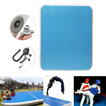 118.11x78.74x7.87inch Air Track Inflatable Gymnastics Mat Yoga Fitness Training Pad With Air Pump