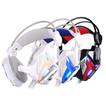 Kotion Each G3100 USB PC Studio Computer Vibration Gaming Headphones With Microphone LED Light
