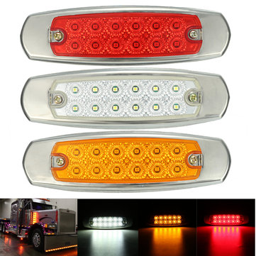 12V LED Side Marker Indicator Light Lamp For Truck Trailer Lorry Van Bus